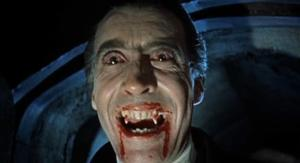Christopher Lee as Dracula 1958.