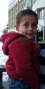 Greeny-brown eyed grandson