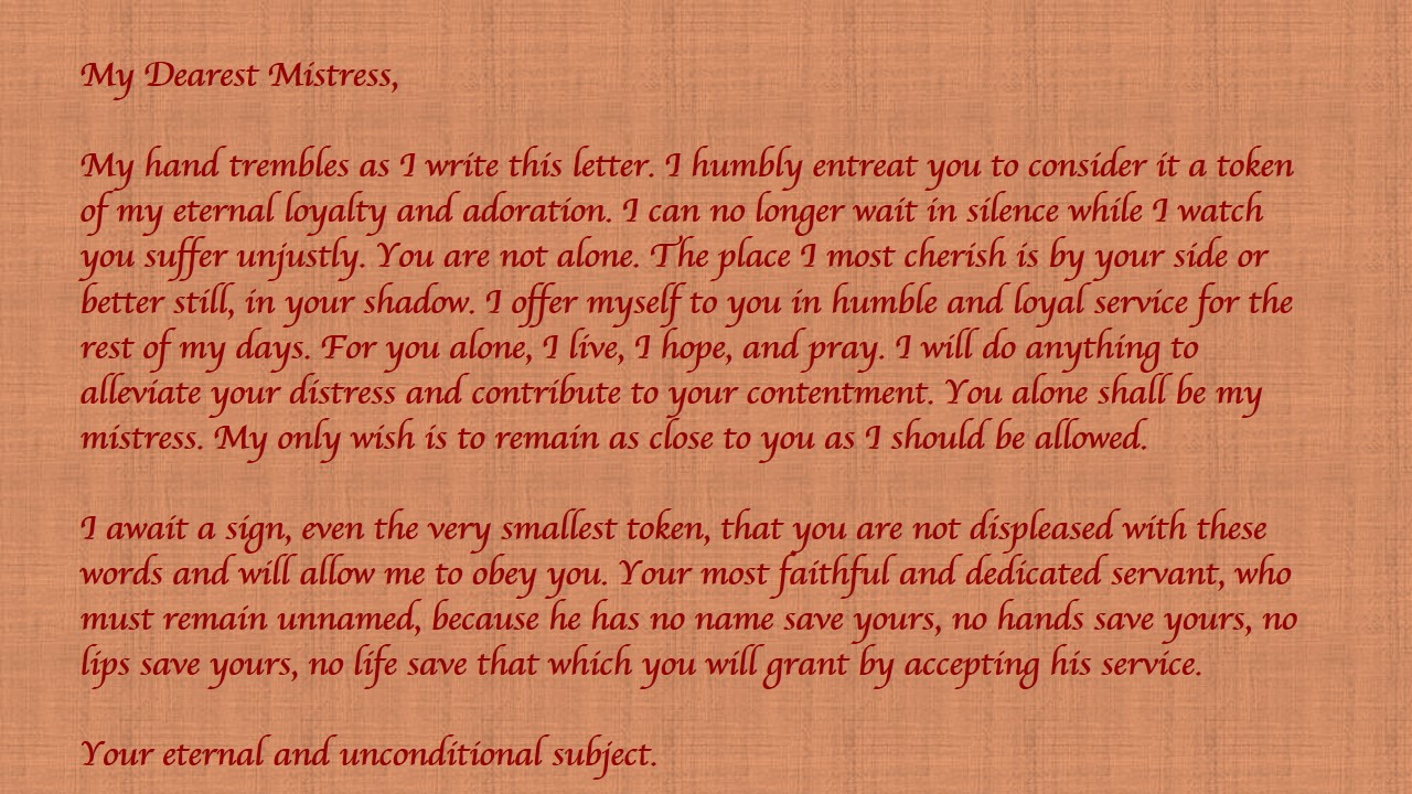Most romantic letter ever