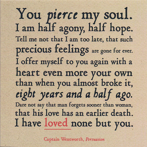 You pierce my soul