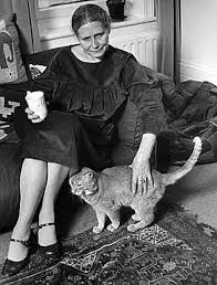 Doris and a cat